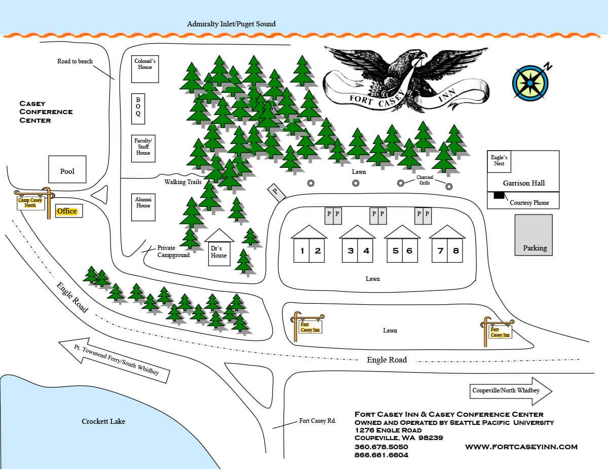 Fort Casey Inn Map