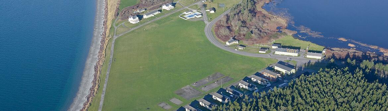 Fort Casey Inn aerial view
